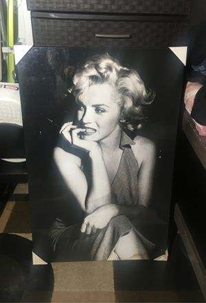 Solid Wood Laminate Marilyn Monroe Poster for Sale in San Jose, CA