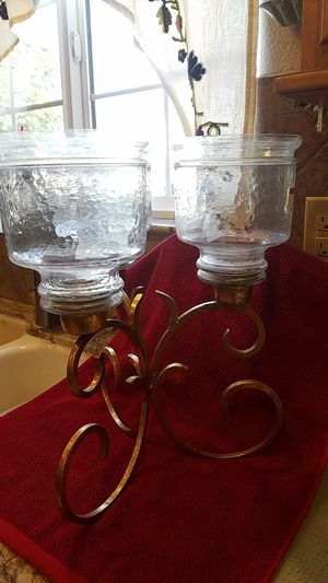 HURRICANE CANDLE HOLDER. H - 15 INCH....OBO for Sale in Upland, CA
