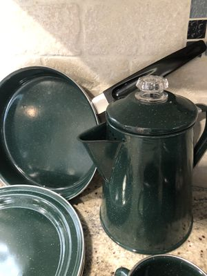Coffee and plate set for Sale in Irving, TX