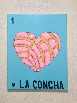 16x20 La Concha Loteria painting for Sale in Carlsbad, CA