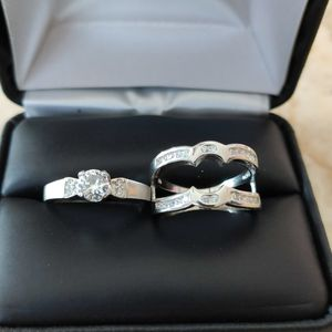 New with tag Solid 925 Sterling Silver ENGAGEMENT WEDDING Ring Set size 6 / 7 / 8 / 9 or 10 $150 set OR BEST OFFER ** WE SHIP!!📦📫** for Sale in Phoenix, AZ