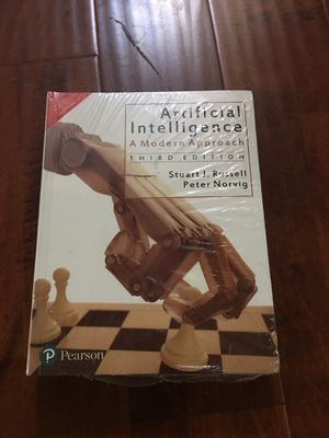 Stuart Russell Artificial Intelligence: A Modern Approach 3rd Edition ISBN-13: 978-9332543515, for Sale in Walnut, CA