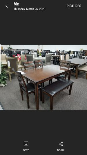 6pc dining room set new for Sale in CRYSTAL CITY, CA