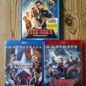 Set Of 3 Marvel Blu-rays for Sale in Gilbertsville, PA