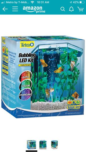 Tetra Hexagon Aquarium Kit With Bubbler,Filter and LED light for Sale in Fort Belvoir, VA
