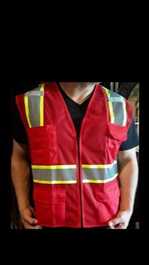 Red Visibility Safety Vest $12 for Sale in Fontana, CA