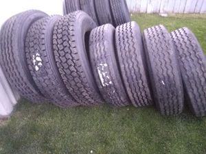 255/70 22.5. lots of semi tires shoot me your size for Sale in Ellensburg, WA