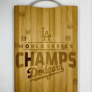 LA Dodger laser engraved bamboo high quality cuttingboard valentines gift for Sale in Los Angeles, CA