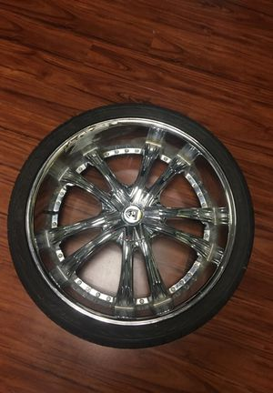 26 inch Lexani rims with tires for Sale in Orlando, FL