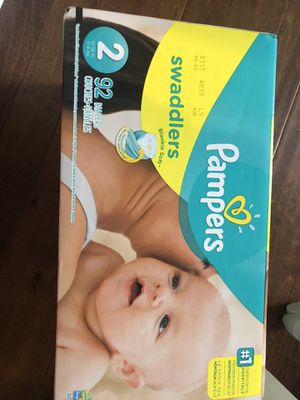 Size 2 pampers 92 count for Sale in FAIR OAKS, TX
