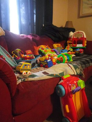 Kids toys up for grabs! Starting at $5 a piece or $60 for everything, the booster seat is $25, and the slide is $40, make me some offers for Sale in Virginia Beach, VA