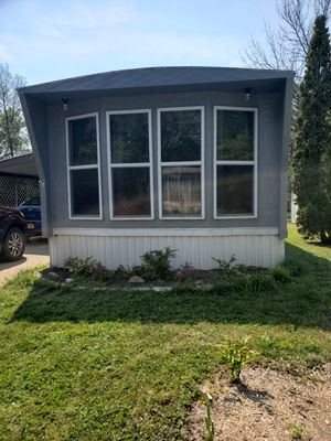 Single trailer for sale 2 bedrooms 1 bath car port and shed. Water, garbage and taxes included. Also you have to be Park Approved. $14,500 for Sale in Hamburg, NY