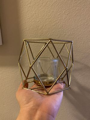5 geometric candle holders for wedding for Sale in Richardson, TX
