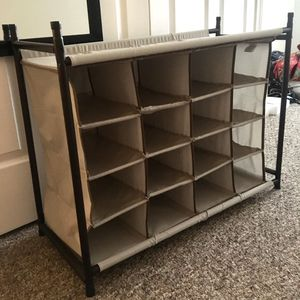 16 cubby shoe organizer for Sale in Greenwich, CT
