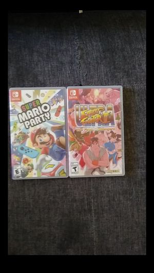 Super Mario Party and Ultra Street Fighter 2 for Sale in San Diego, CA
