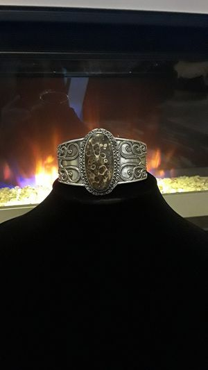925 stamped cuff with unique gemstone for Sale in Riverview, FL