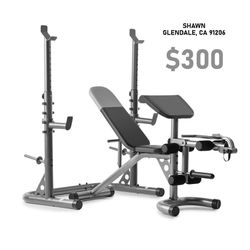 OLYMPIC WEIGHT BENCH + SQUAT RACK for Sale in Glendale,  CA