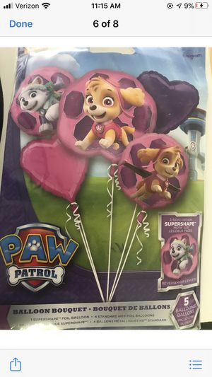 Skye everest paw patrol balloon bouquet for Sale in Waterbury, CT
