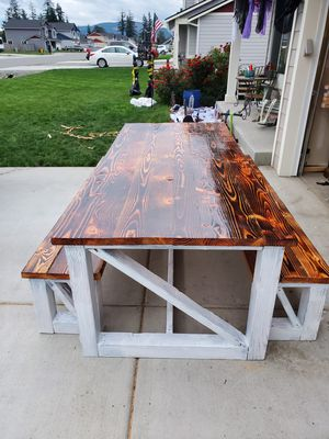 Farmhouse style dining table for Sale in Lacey, WA