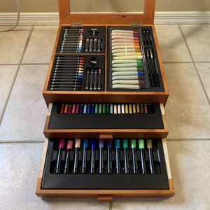 Wood Case Art Supply/Drawing/Painting Set by Coldwater Creek - NEVER Used for Sale in Phoenix, AZ