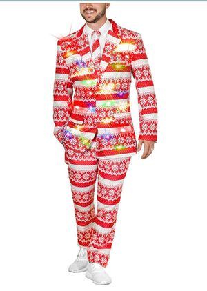 Christmas Suit w/ lights NEW ugly sweater party for Sale for sale  Hemet, CA