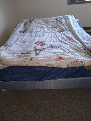 Queen Size Matreess and Box spring with Bed Frame Everything Kept in Good Condition for sell for Sale in Kearney, NE
