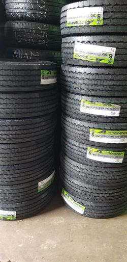 New trailer tires ST235/85/16 14PR $185 each mounting included for Sale in Aurora,  IL