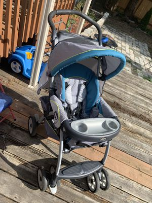 CHICCO Cortina Travel System Baby Stroller Gray/Green for Sale in Everett, WA