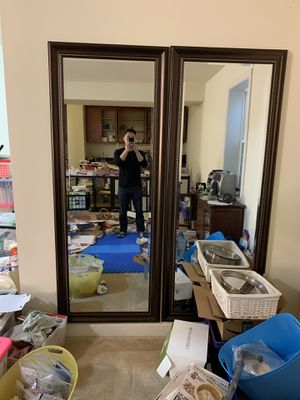 Pair of large wall mirrors for Sale in Gaithersburg, MD