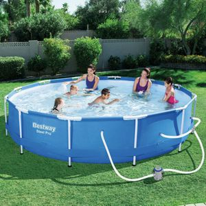 Bestway 12 foot x 30 inch Steel Pro Max Pool w/ Pump Cupholders & Filter for Sale in Glen Burnie, MD