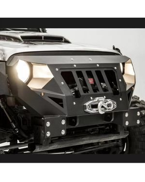 Jeep JK Grumper Style Winch Bumpers For 07-18 Jeep Wrangler Front Bumper & Grill for Sale in Gardena, CA