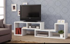White TV Console- Bookcase for Sale in Hollywood, FL