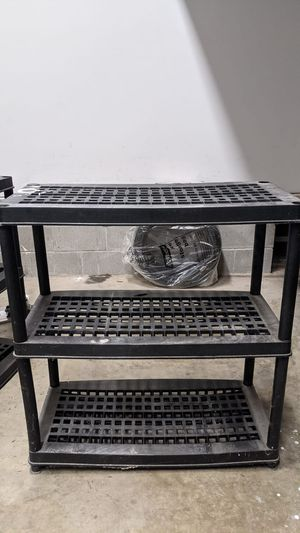 Hard plastic shelves for storage. Extremely sturdy. for Sale in Bellaire, TX