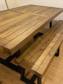 Stephen Pine Table and Bench for Sale in Lake Forest Park,  WA