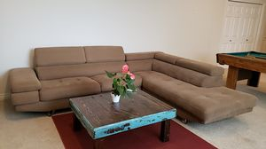 Sectional sofa with adjustable headrests and lots of storage! for Sale in Auburn, WA