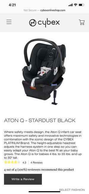 Car seat- Cybex Anton q- stardust black + base for Sale in Citrus Heights, CA
