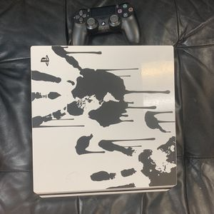 PS4 Death Stranding Limited Edition Used Perfect Condition A Little Problem But Works Fine Comes With Controller And Cords for Sale in Fort Lauderdale, FL