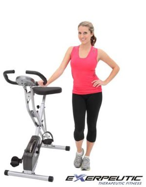 Exerpeutic Magnetic Upright Fitness Exercise Gym Bike with Heart Pulse Sensors for Sale in New York, NY