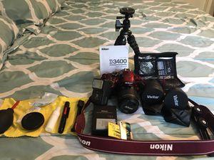 Nikon D3400 camera with Accessories/lenses for Sale in Marietta, GA