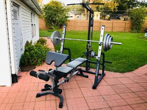 Bench Press - Lat Pull Down - Squat Rack - Olympic Weights - Olympic Bar - Weights - Work Out - Gym for Sale in Downers Grove, IL