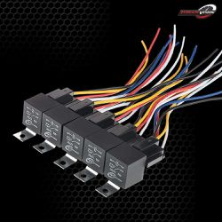 5 Pack -TERRAIN-VISION 12V DC 30/40 Amp 5-Pin SPDT Automotive Rocker Switch Relay Harness Set with Interlocking for Sale in Ontario,  CA