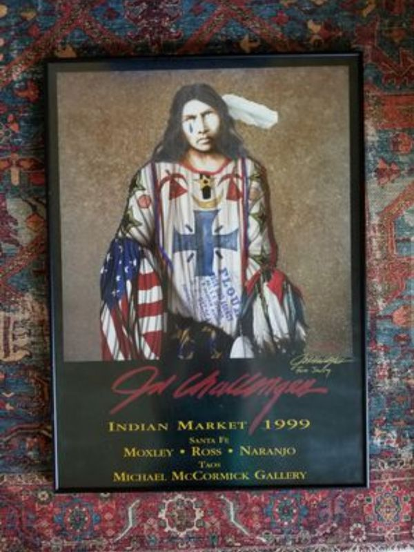 """Colorful JD Challenger Framed Print """"The Final Solution"""" Native American Indian Art Picture 24 x 36"""