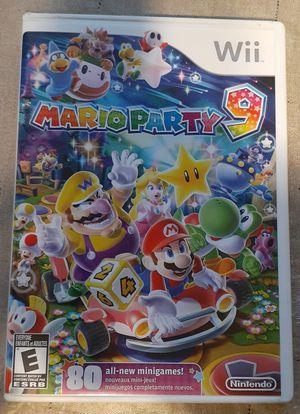 Nintendo wii MARIO PARTY 9 for Sale in Fresno, CA