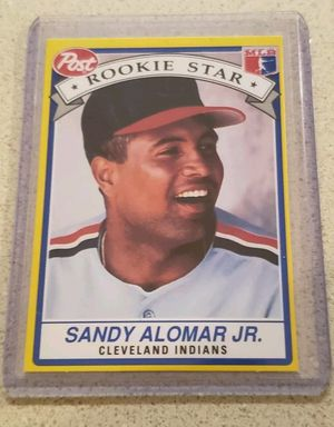 1991 Post Baseball Card #6 Sandy Alomar Jr. Rookie RC for Sale in Chesapeake, VA
