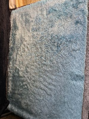 5x7 turquoise blue soft shaggy rug fuzzy brand new carpet for Sale in Los Angeles, CA