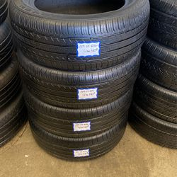 4 Used Tires 205/55/R16 Nexen . Free Mount And High Speed Balance Included for Sale in Lakewood,  CA