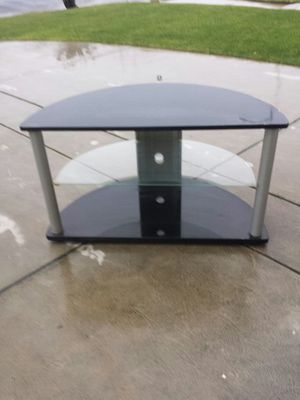 TV Stand With Removable Glass Shelf for Sale in Clovis, CA