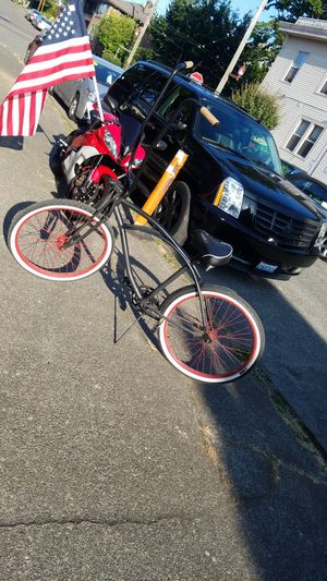 Beach Cruiser 50s Style Bomber Bike w/ Ape Hangers AKA Debo's Bike punk! for Sale in Seattle, WA
