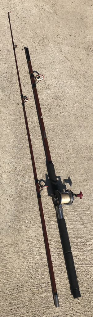 Fishing pole rod 11ft tall 2 piece immec ocean sea for Sale in San Bernardino, CA