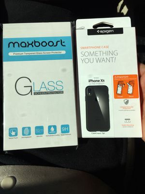 iPhone XR Case and Glass shield for Sale in Concord, NC